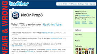 No On Prop 8 on Twitter