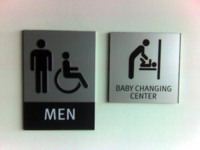 At least the men's room is evolved